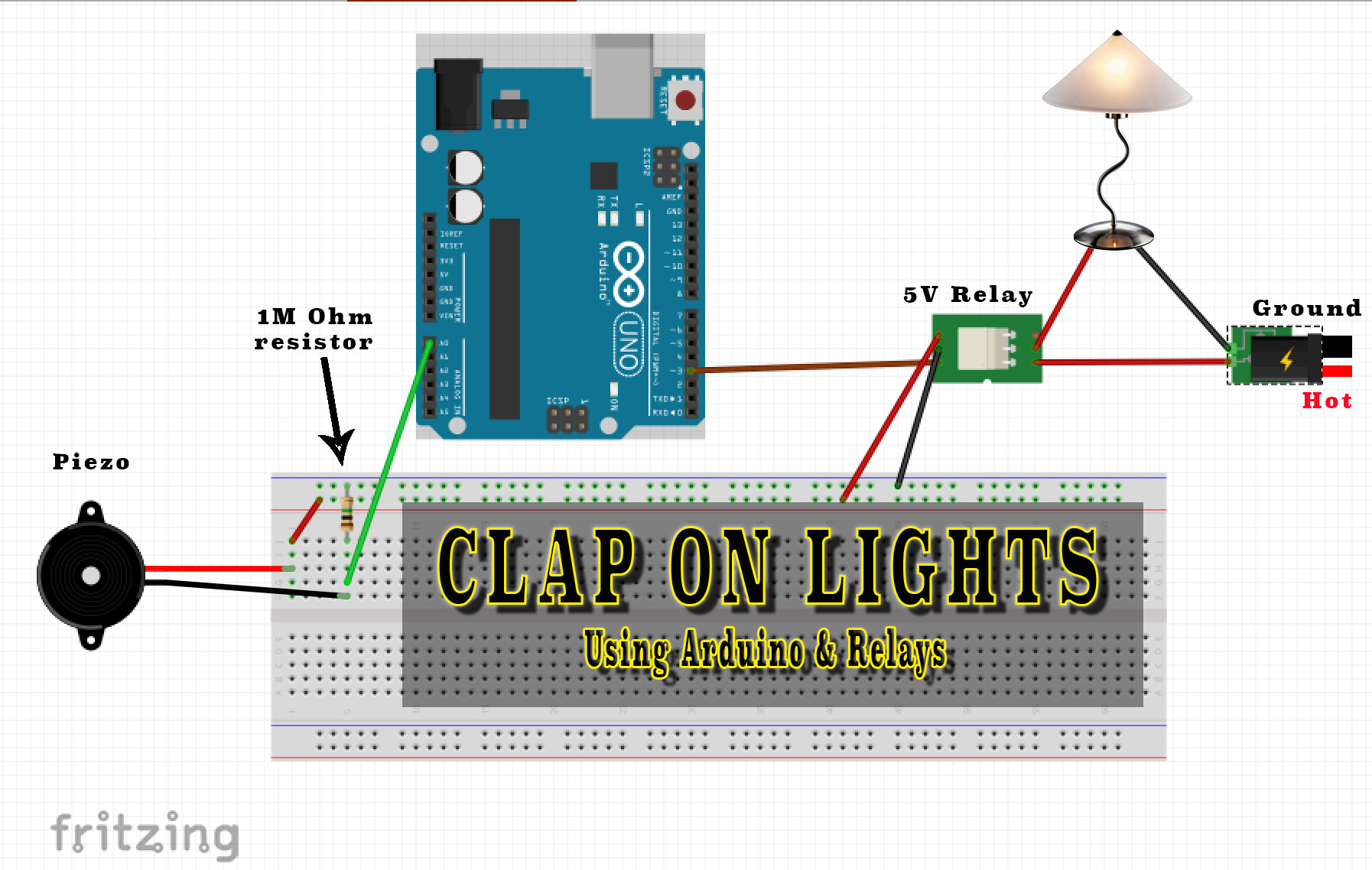 Josh Dodson Clap On Lights Arduino With 12v Relay Wiring Diagrams For Lighting